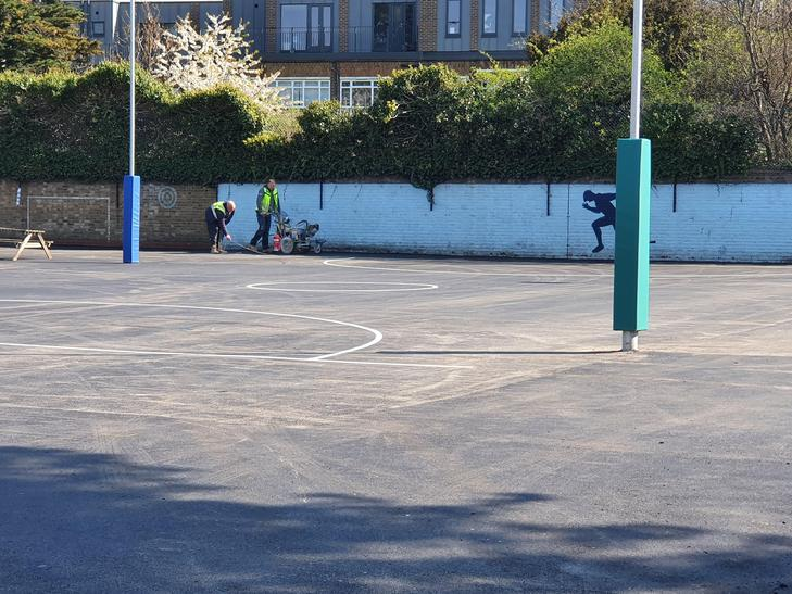 A huge football and netball pitch.