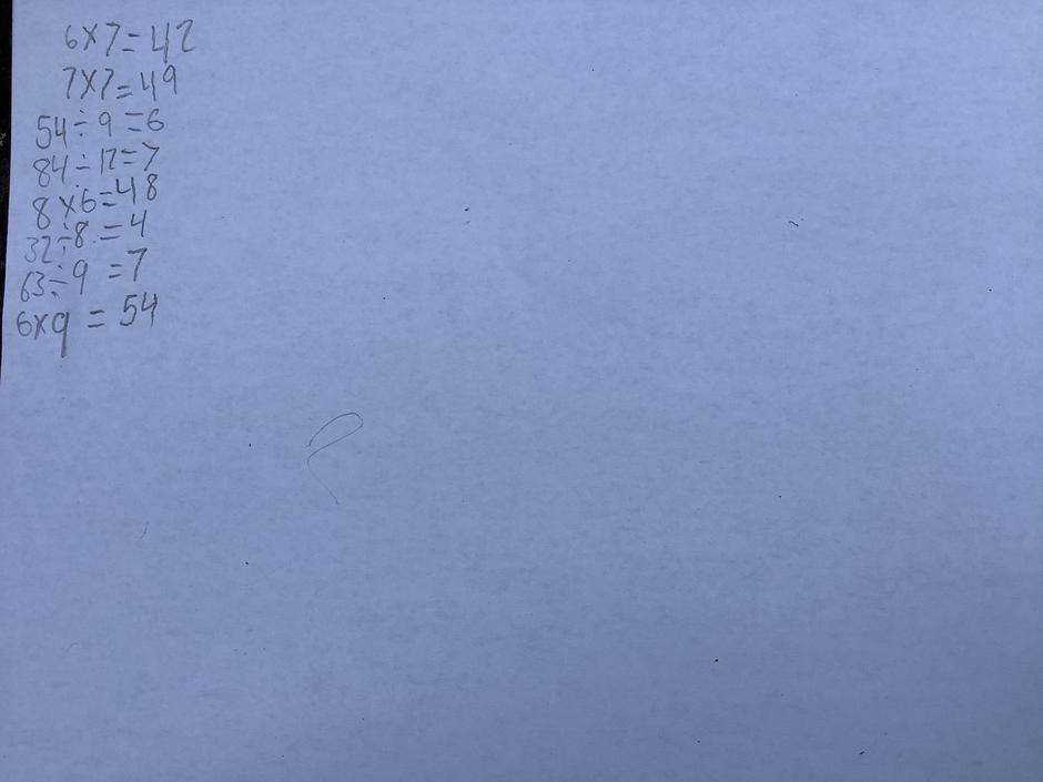 Speedy maths work- Great!