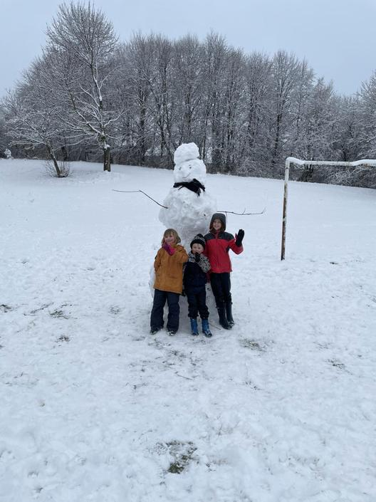 Wow! How did you make it so tall! Great family effort!