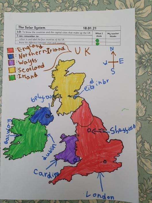 Wow! You labelled Ireland and Sheffield.