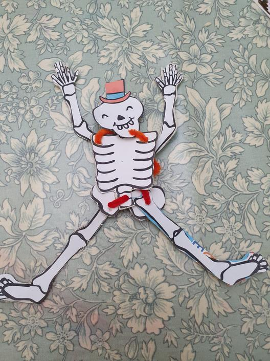 A lively looking skeleton!