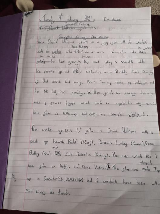 Excellent writing. Could you try to include some fronted adverbials?