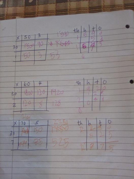 Wow! Well done challenging yourself and applying this method to even bigger numbers!