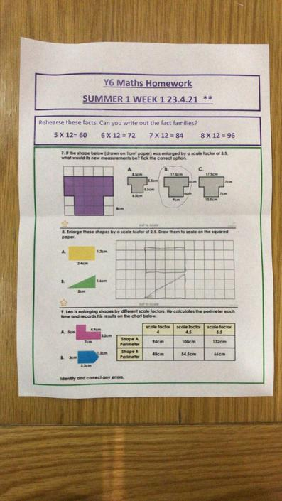 OA - accurate maths work, well done!