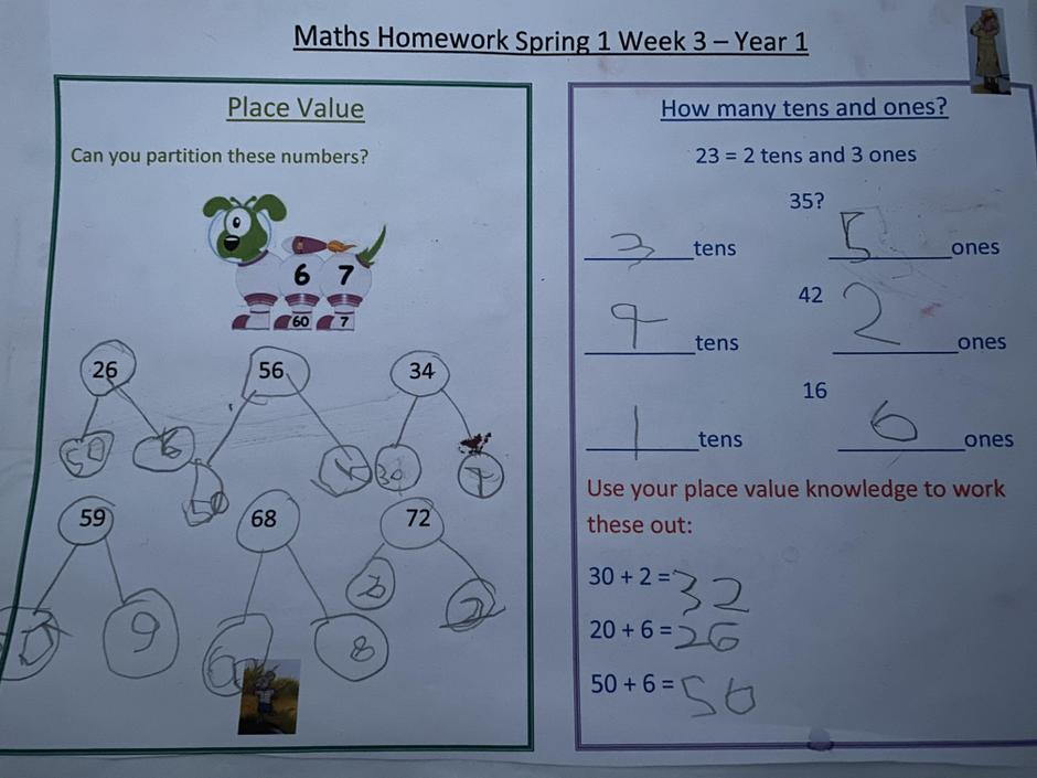Well done. You understand 10s and 1s and their place value.