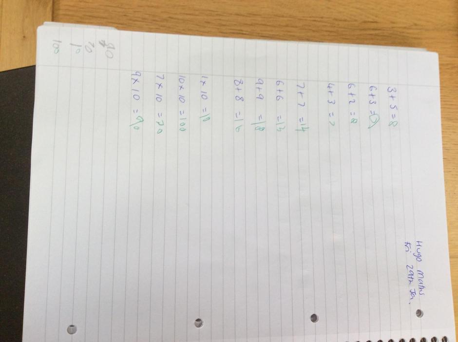 Great homework!
