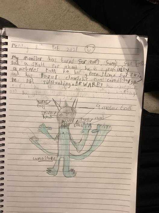 MS- I love the description of your monster! Great ideas!