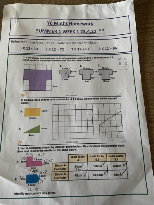 FS - accurate maths work, well done!