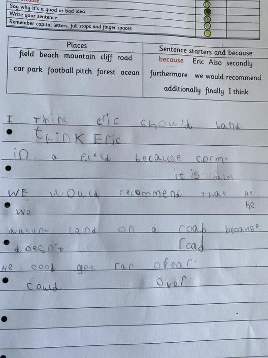 Well done for rereading your work and seeing missing words. Good job!