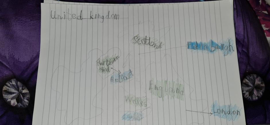 Great drawing of the UK