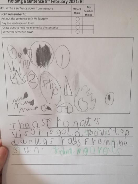 Brilliant writing. Well done. Please try your best with your finger spaces