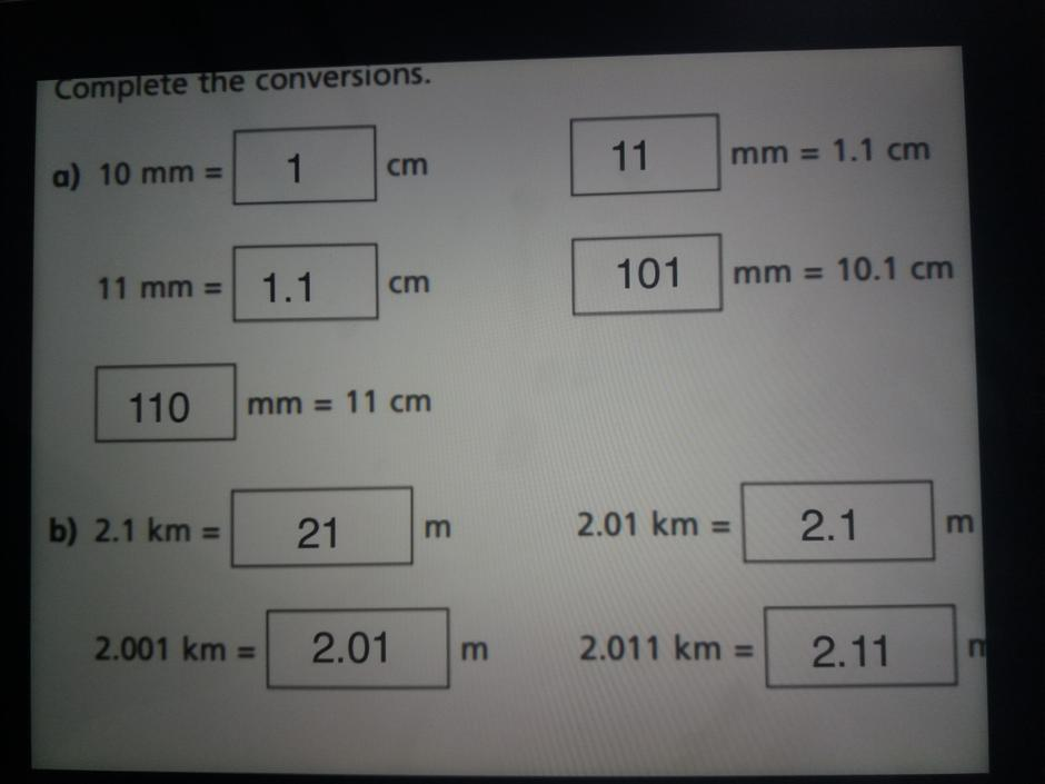 XS- Super work at converting mm and cm.   1000m = 1 km