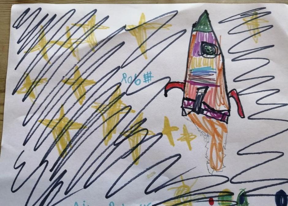 Lovely rocket. I really like the stars too