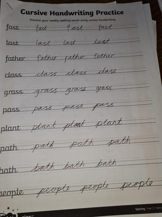 KP - more great handwriting