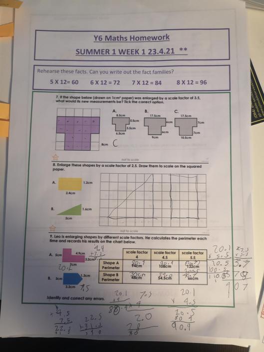 DB - super maths work, well done!