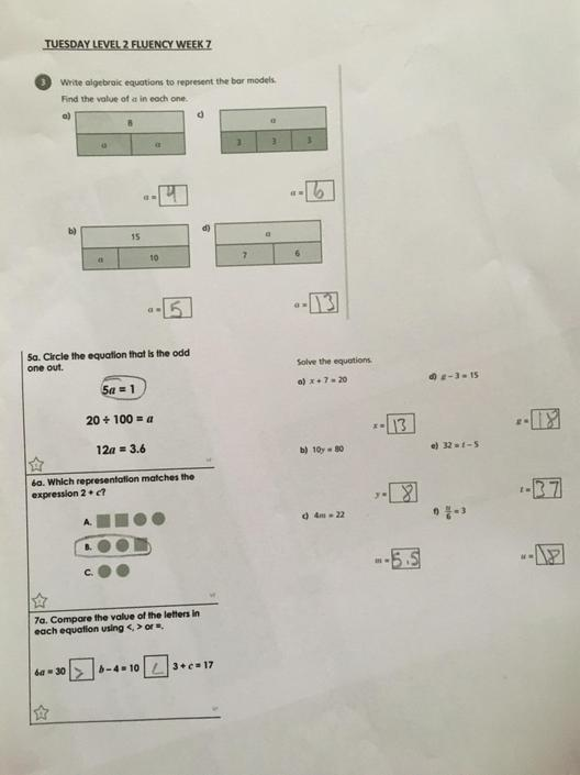 SA- Great algebra!! You solved the equations! Check 5a.