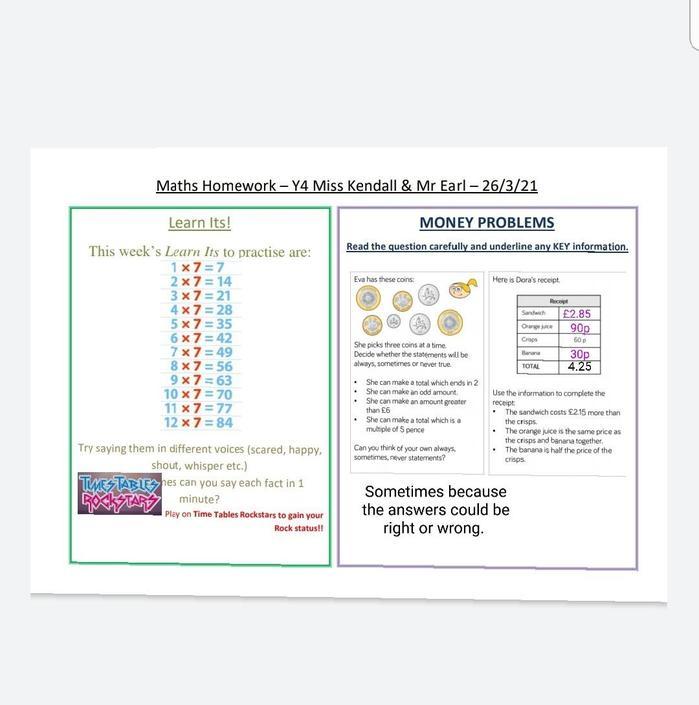 10hp - Good maths work