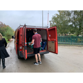Loading the volunteer's van