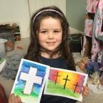Beautiful Easter cross art work