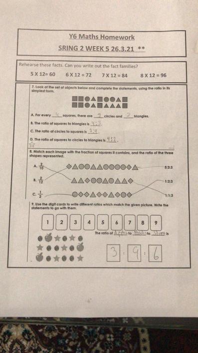 OA - great maths work!