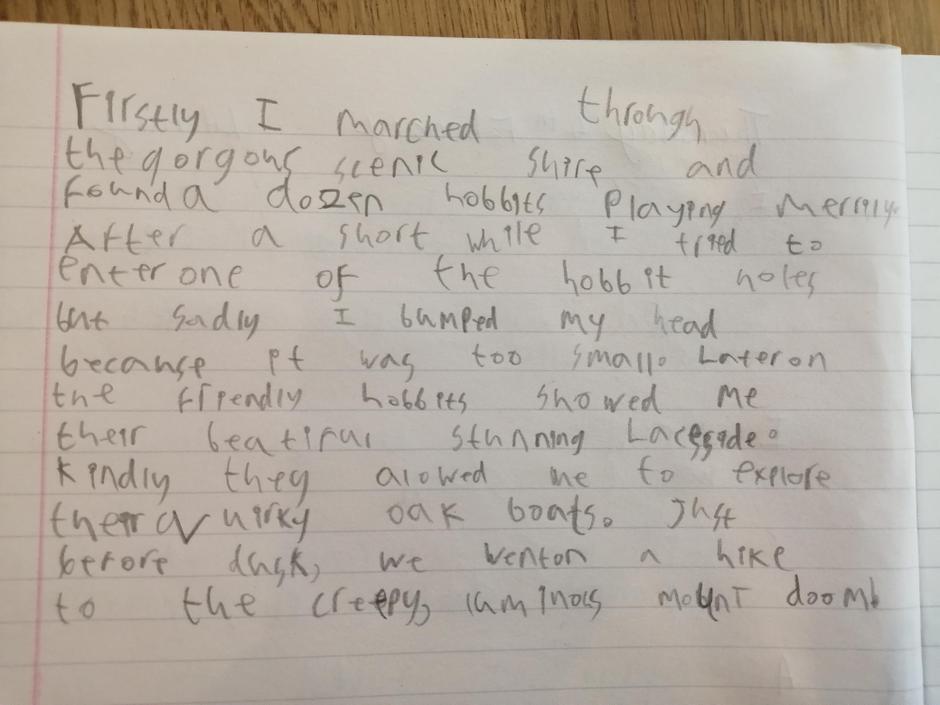 Super SPaG work! Brilliant sentence openers!