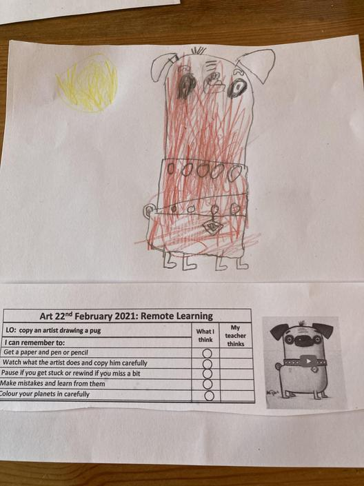 Fantastic drawing! Be careful with the colouring. Love the sun!