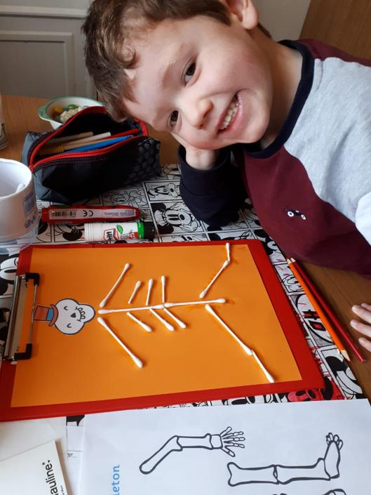 I love your idea for how to make the skeleton L!