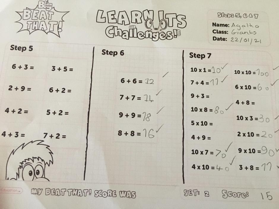 Brilliant! Well done for seeing the pattern in the 10 times table.