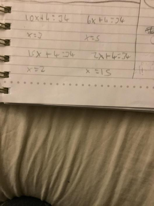 AT- Great work at solving equations!!