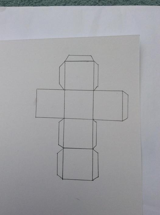 I drew each square 3cmx3cm