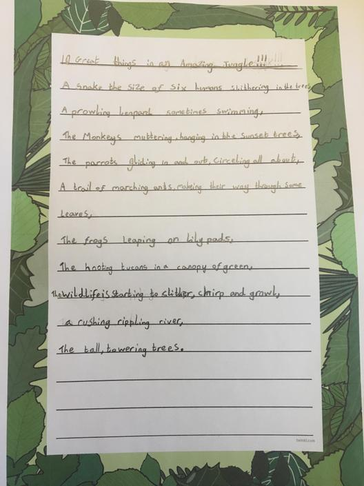 What a wonderfully descriptive poem. Lovely neat writing too!