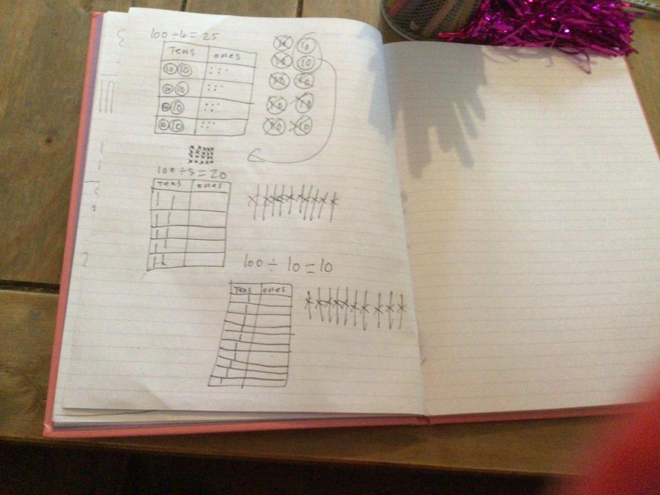 Clear place value grids
