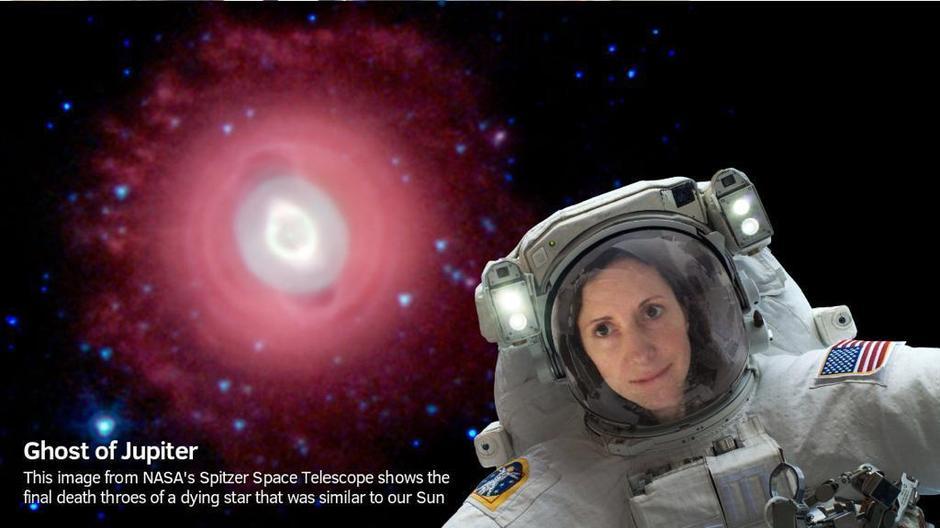 Mrs Prochazka Lawton in space