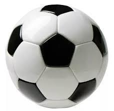 The black patches on a football.
