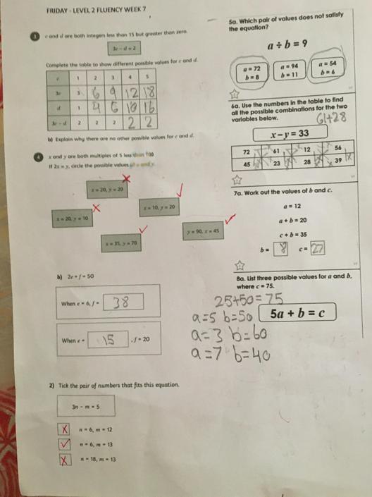 SA- Perfect algebra! Well done!