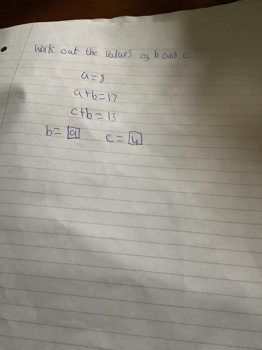 JA- Great algebra!!