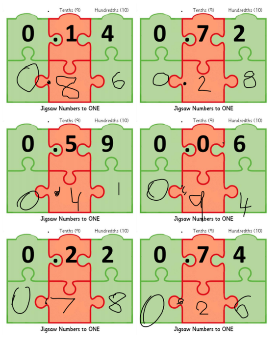 Accurate jigsaw number work --