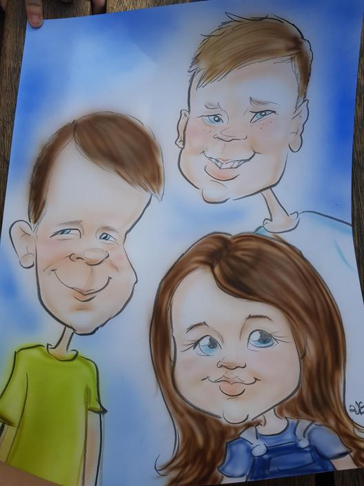 KP - I can tell who the three people are in this caricature - love it!