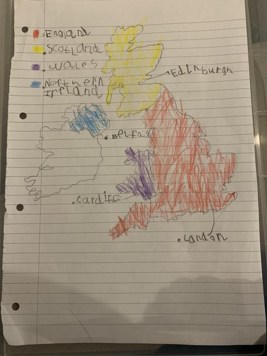 Great tracing of the UK!