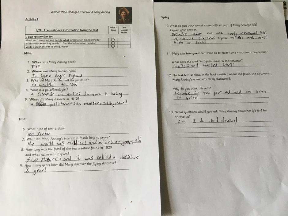 Super answers! I think Mary Anning's response would be 'Go for it!'