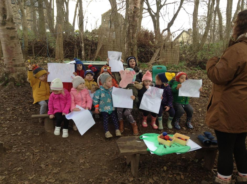 Show casing our great nature rubbings