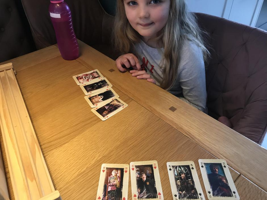 Great idea to use playing cards as digit cards.