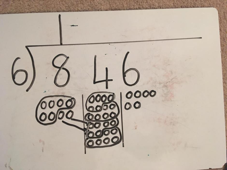 How many lots of the divisor