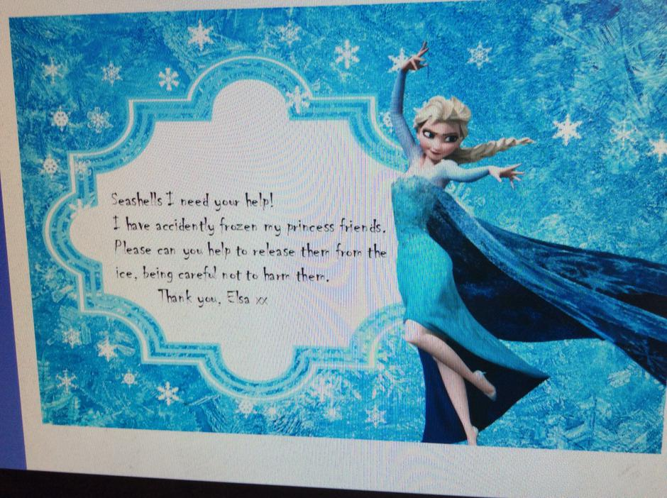Our letter from Elsa!!