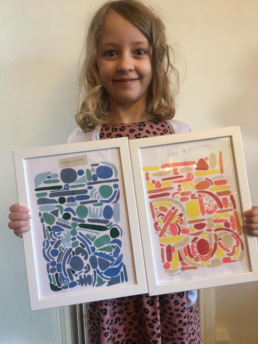 WOW! Look at this FABULOUS fossil-inspired collage artwork!