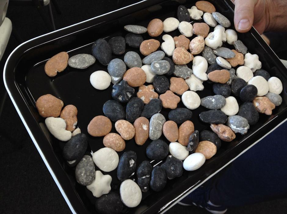Edible pebbles.