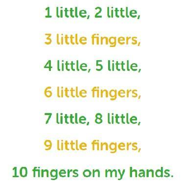 Try and point or move each finger as you count.