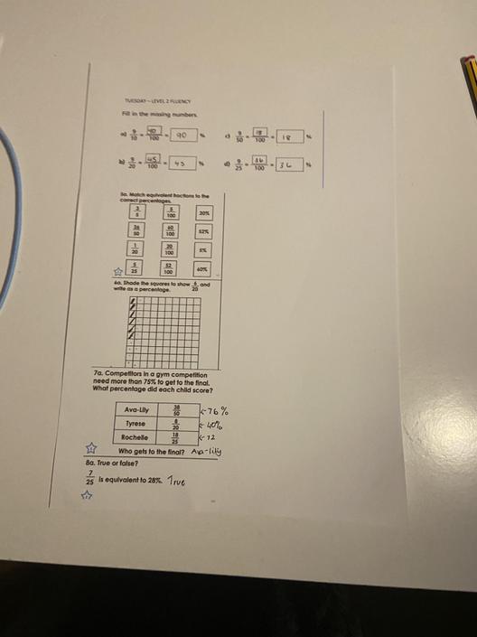 FS- Good understanding of today's maths work!
