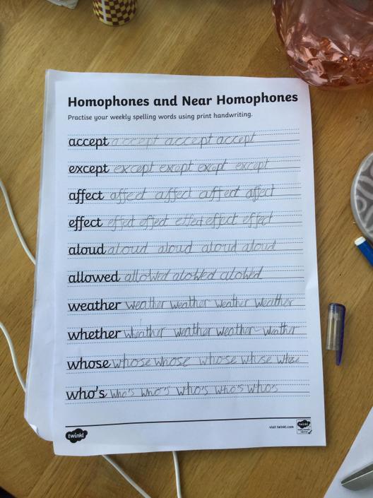 Very neat handwriting