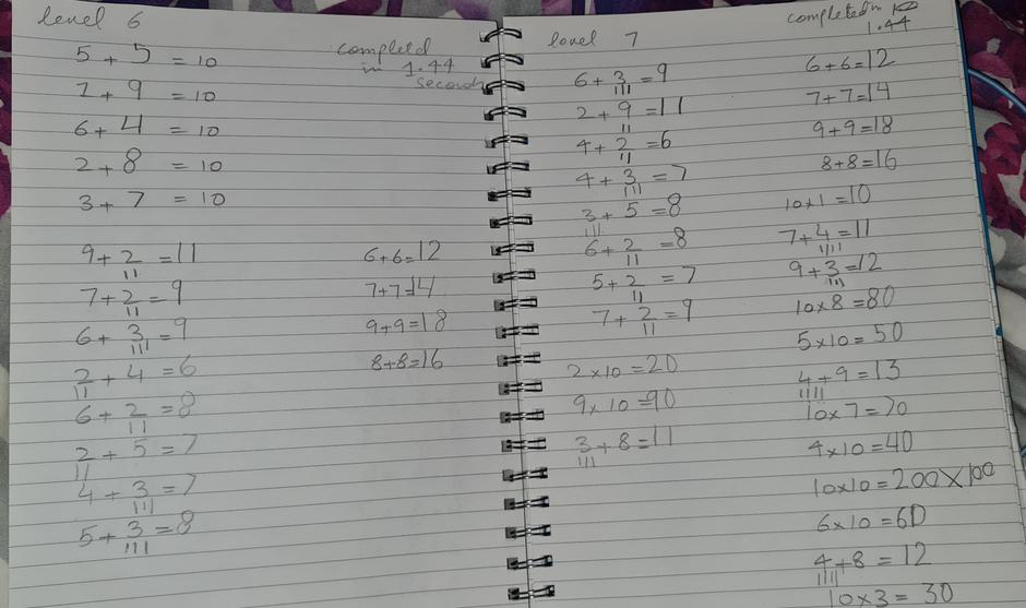 Fabulous! You are tackling year 2 multiplications.